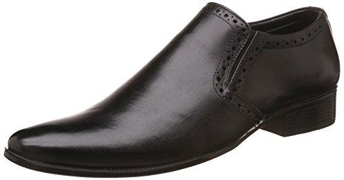 Auserio Men's Black Leather Formal Shoes – 9 UK/India (43 EU)(SS 293)