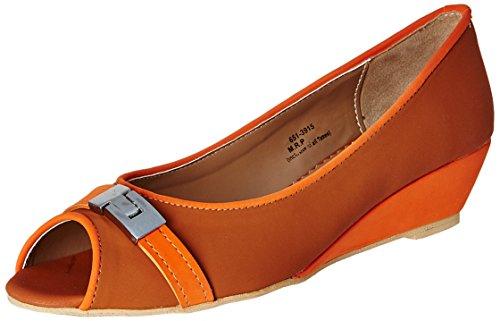 Footin Women's Tan Light Brown Pumps – 4 UK/India (37 EU)(6513915)