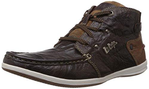 Lee Cooper Men's Brown Leather Boat Shoes – 10 UK