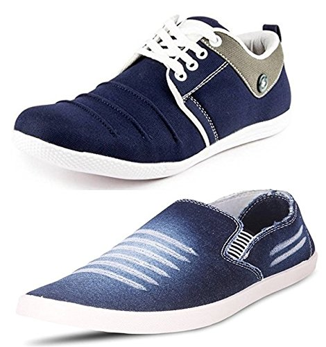 Maddy Men's Combo Pack Of 2 Footwear Loafers & Sneakers In Various Sizes