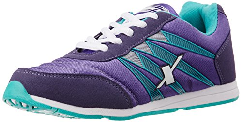 Sparx Women's Purple and Mint Green Running Shoes -5 UK