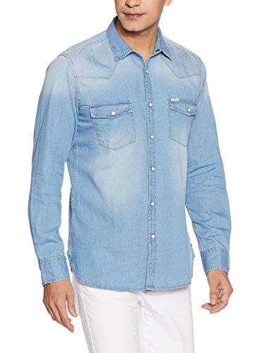 Pepe Jeans Men's Casual Shirt (8907557310083_PIMW200049ICEM)