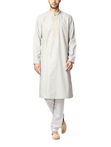 Peter England Men's Synthetic Kurta Pyjama (8903994477891_POFL5130008_38_Cream)