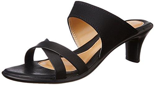 Bata Women's Lycra Mule Black Fashion Sandals – 7 UK/India (40 EU)(7716871)