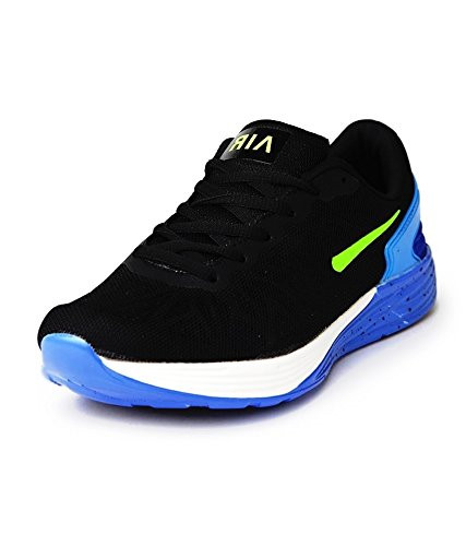 Sport Shoes Air Men's Black Running Shoes (Size : 8)