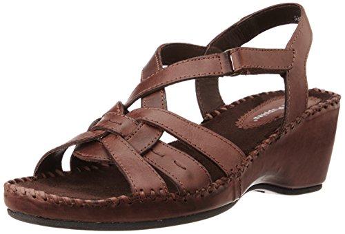 Hush Puppies Women's Amarlysis Sandal Brown Leather Fashion Sandals – 6 UK/India (39 EU)(7644096)