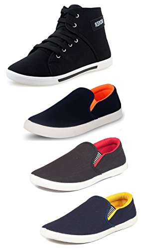 Tempo Men's Combo Pack of 3 Loafers ShoeS & 1 Sneakers Shoes-10