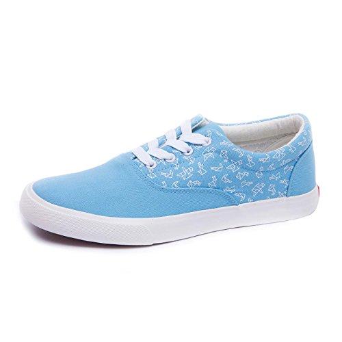Bunikk Women's Light Blue Origami Canvas Sneaker 8UK