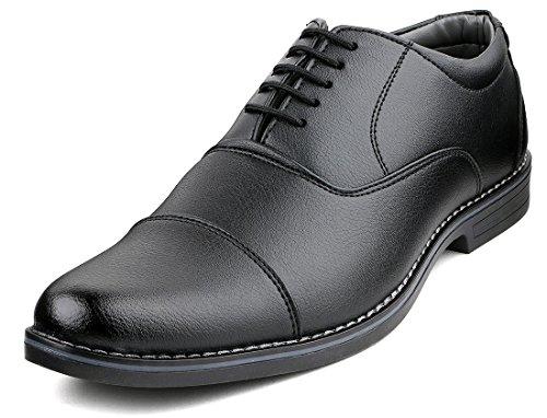 Escaro Men's Black Formal Oxford Lace Up Dress Shoes (ES1039KB_BLACK_8)