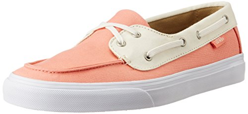 Vans Women's Chauffette SF Coral and White Sneakers – 3.5 UK/India (36 EU)