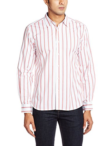 People Men's Casual Shirt (8903880663643_P10102167533319_40_White)