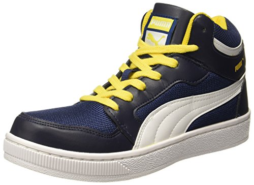 Puma Men's Rebound Mid Lite DP Peacoat, Dandelion and White Sneakers – 8 UK/India (42 EU)
