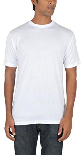 Woodwose Organic Clothing Men's Bamboo T-Shirt (BAMTSWH01–XL, White, X-Large)