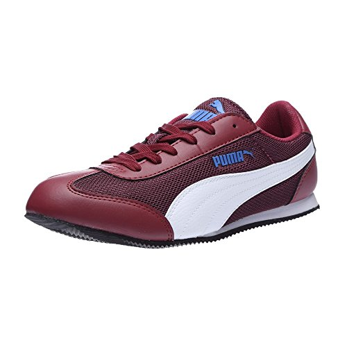 Puma Women's 76 Runner Wns Idp Winetasting, Red Plum and Blue Yonder Sneakers – 5 UK/India (38 EU)