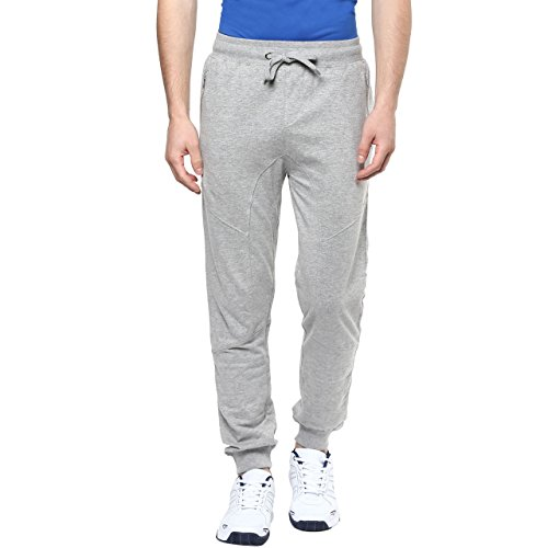 Ajile by Pantaloons Men's Poly Cotton Track Pant_Grey Melange_S