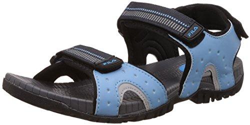 Fila Men's Raidon Black and Light Blue Sandals and Floaters -7 UK/India (41 EU)