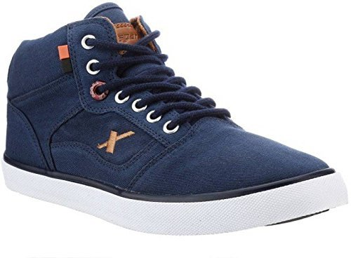 Sparx Men's Navy Blue and Tan Sneakers (SM0282) (8 UK)