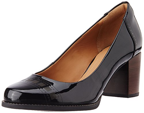 Clarks Women's Tarah Sofia Black Pat Leather Pumps – 5.5 UK