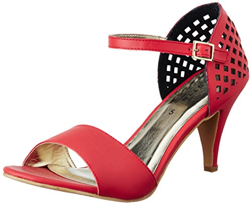 Footin Women's Red Fashion Sandals – 5 UK/India (38 EU)(7615914)