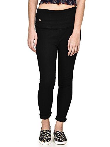 Buttun Black Denim Lycra Slim Fit Jegging For Women Size:- 30