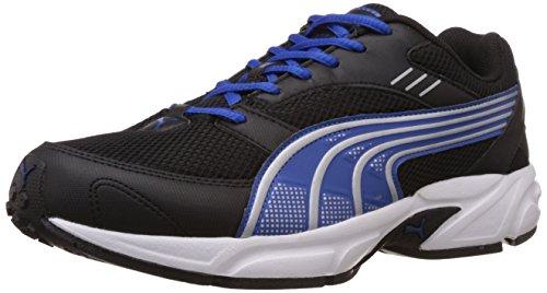 Puma Men's Pluto DP Black-Strong Blue-Silver Running Shoes – 7 UK/India (40.5 EU)