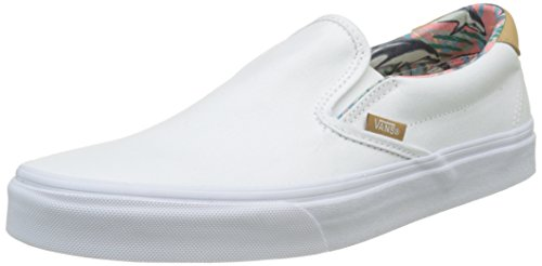 Vans Unisex Slip-On 59 (C&L) Dolphins and True White Loafers and Moccasins – 10 UK/India (44.5 EU)