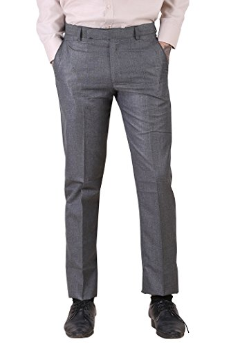 York Style Grey Colored Formal Trouser For Men