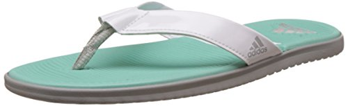 adidas Women's Orrin.2 W Ftwwht, Silvmt, Easgrn and Silv Flip-Flops and House Slippers – 6 UK/India (39.33 EU)