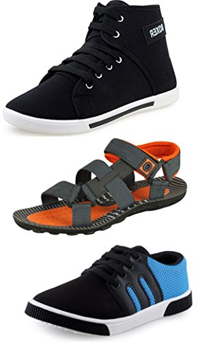 Tempo Men's Combo of Sandal & Casual Shoes-8