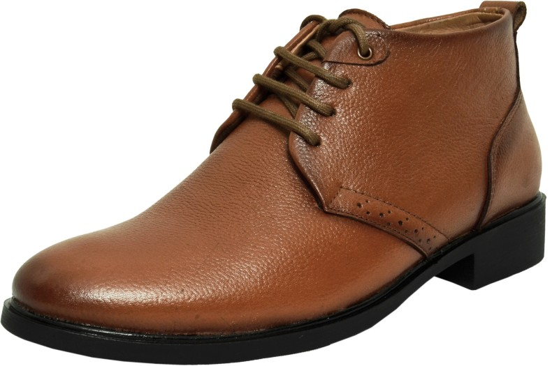 Zoom Shoes For Men's Genuine Leather Shoes and Formal Shoes online B-091-Tan-6 Lace Up(Tan)