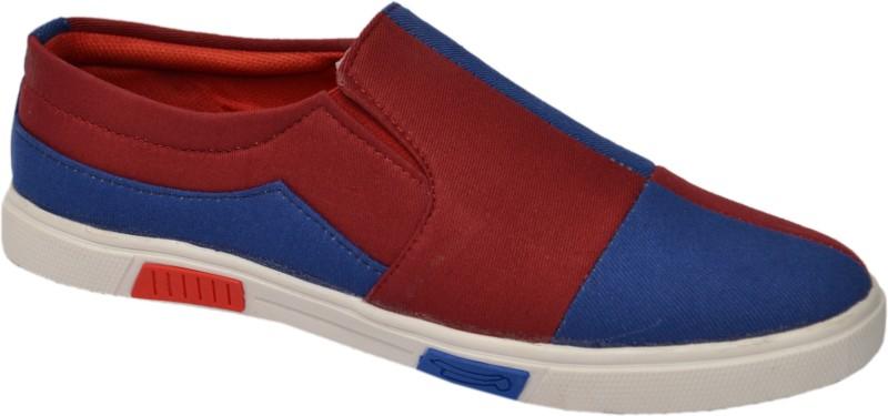 Molessi Molessi Men's Smart Canvas Casual Shoes Casuals(Blue, Red)
