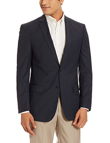 Peter England Men's Slim Fit Blazer (8907495634852_PBZ1041601219_40_DarkblueSolid)