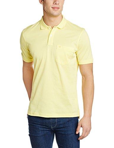 Louis Philippe Men's Polo (8907545416490_LPKP1M01285_Medium_Medium Yellow Solid)