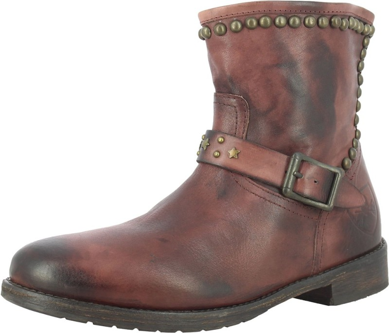SAINT G Brown Leather Ankle Boots(Brown)