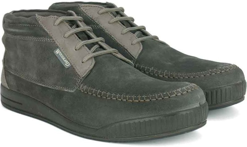 Woodland Leather Boots(Grey)