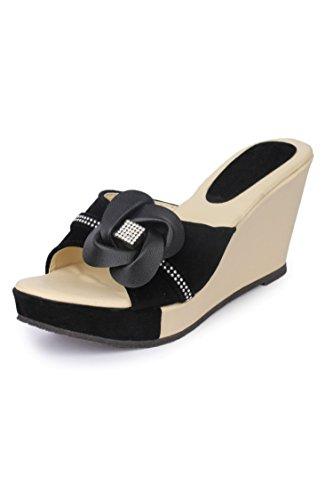 Funku Fashion Black Wedges