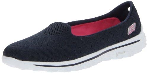 Skechers Performance Women's Go Walk 2 Axis Slip-On Walking Shoe, Navy/Pink, 7. 5 M US