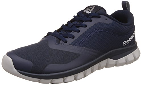 reebok mens sublite authentic 40 navy grey and blk running shoes 8 -