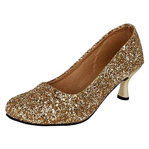 authentic vogue womens fashionable golden colour heel bellie 3 uk -