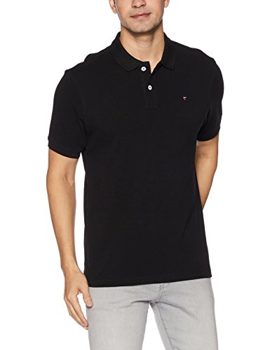 Louis Philippe Sports Men's Polo (8907689037414_LYKP1S01407_XL _Black Solid)