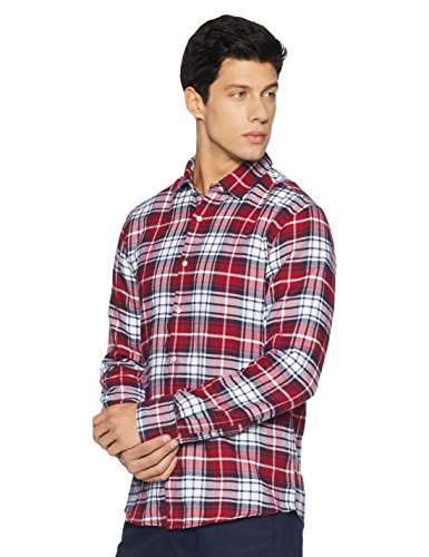 Diverse Men's Checkered Regular Fit Cotton Casual Shirt (DVC02C2L01-86-XXL-Multicolor)