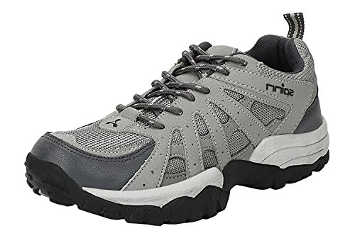 Spinn Men's Grey Synthetic Leather Track & Field Shoes (10 UK)
