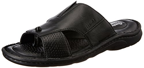 Bata Men's Sporty Mule Black Leather Hawaii Thong Sandals – 8 UK/India (42 EU)(8746901)
