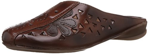 Catwalk Women's Brown Leather Slippers – 5 UK (8899BR)