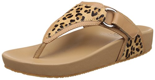 Klas&Sylph Women's Amanda Leopard Orthopedic Arch Support Sandal – 9 UK/India (41 EU)