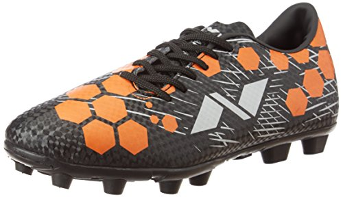 Nivia Raptor-I Football Shoes, Men's 8 UK (Black/Orange)