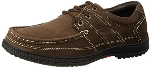 Lee Cooper Men's Brown Leather Boat Shoes – 7 UK/India (41 EU)