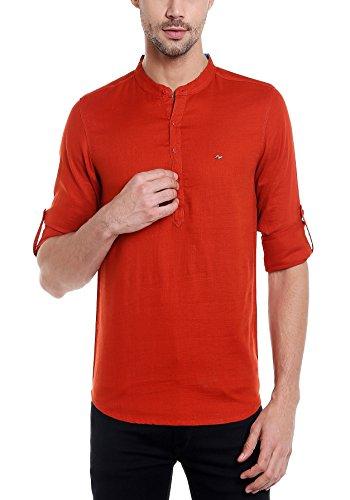 Spykar Mens Rust Slim Fit Casual Shirts (Medium)