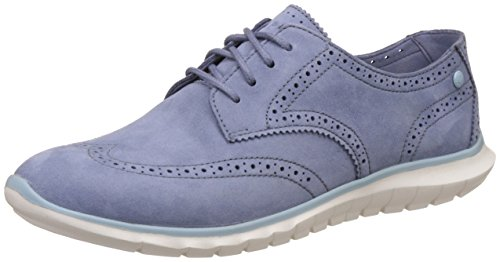 Hush Puppies Women's Zula Tricia Blue Leather Loafers and Moccasins – 6 UK/India (39 EU)(5549151)