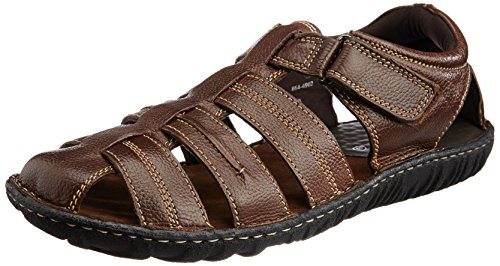 Hush Puppies Men's Hm-Fisherman Brown Leather Athletic and Outdoor Sandals – 8 UK/India (42 EU)(8644902)